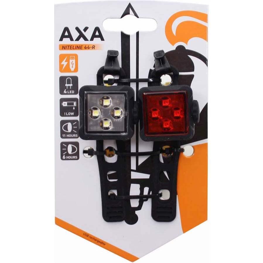 Axa verlichting set Niteline 44R usb