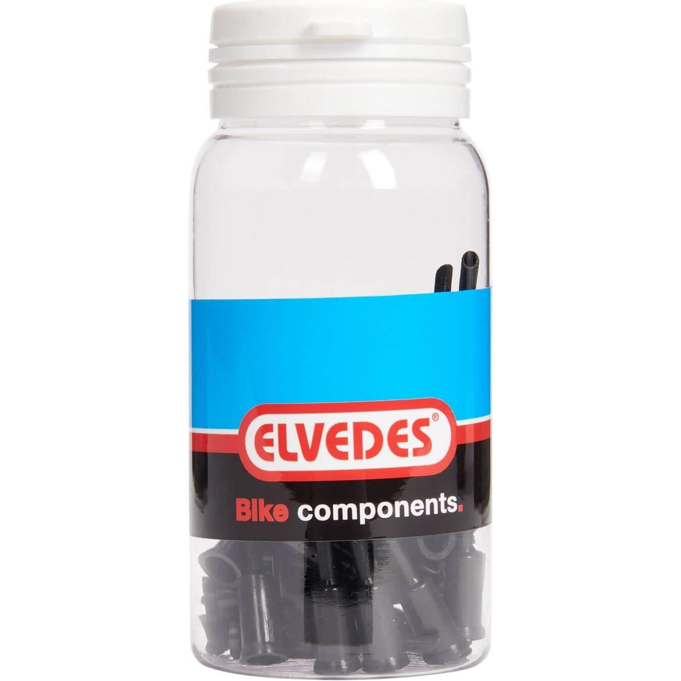 ds Elvedes kabelhoedje 5.0mm PVC met tip (50)