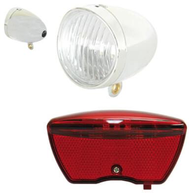 IKZI Light verlichtingsset Retro batterij chroom